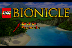 Lego Bionicle (U)(Mode7) Title Screen