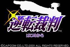Gyakuten Saiban (J)(Lightforce) Title Screen