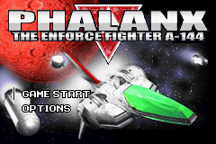 Phalanx - The Enforce Fighter A-144 (J)(Eurasia) Title Screen