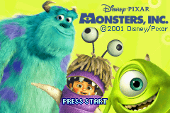 Monsters Inc. (U)(Mode7) Title Screen