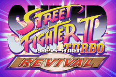 Super Street Fighter II Turbo Revival (E)(High Society) Title Screen