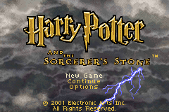 Harry Potter and the Sorcerer's Stone (U)(Lightforce) Title Screen