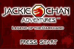 Jackie Chan Adventures - Legend of the Dark Hand (U)(Mode7) Title Screen