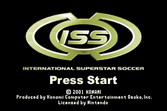 International Superstar Soccer (E)(Eurasia) Title Screen
