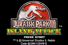 Jurassic Park III - Island Attack (U)(Mode7) Title Screen