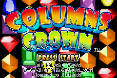 Columns Crown (E)(Menace) Title Screen