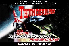 Thunderbirds - International Rescue (E)(Venom) Title Screen