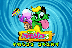 Planet Monsters (U)(Mode7) Title Screen