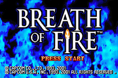 Breath of Fire (U)(Mode7) Title Screen