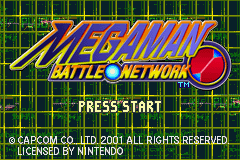 MegaMan Battle Network (E)(Rocket) Title Screen