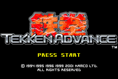 Tekken Advance (J)(Eurasia) Title Screen