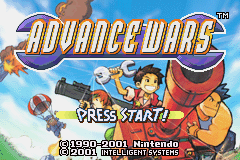 Advance Wars (E)(Arrogance) Title Screen
