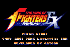 The King Of Fighters EX - NeoBlood (J)(MegaD) Title Screen
