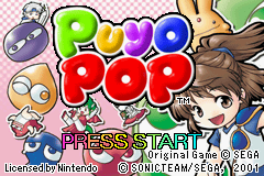 Puyo Pop (U)(Mode7) Title Screen