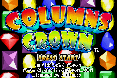 Columns Crown (U)(Lord Moyne) Title Screen