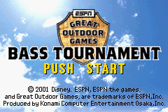 ESPN Great Outdoor Games - Bass Tournament (E)(Lightforce) Title Screen