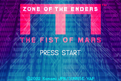 Zone of the Enders - The Fist of Mars (U)(Mode7) Title Screen