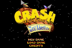 Crash Bandicoot - The Huge Adventure (U)(Independent) Title Screen
