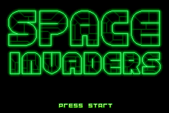Space Invaders (U)(Venom) Title Screen