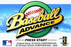 Baseball Advance (U)(Mode7) Title Screen