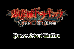 Akumajou Dracula - Circle of the Moon (C)(Titan) Title Screen