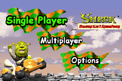 Shrek - Swamp Kart Speedway (U)(Venom) Title Screen