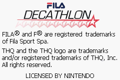 FILA Decathlon (E)(Venom) Title Screen