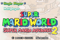 Super Mario World - Super Mario Advance 2 (E)(Cezar) Title Screen