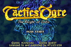Tactics Ogre - The Knight of Lodis (U)(Mode7) Title Screen