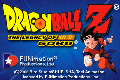 Dragon Ball Z - The Legacy Of Goku (U)(Mode7) Title Screen