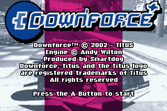 Downforce (U)(Mode7) Title Screen