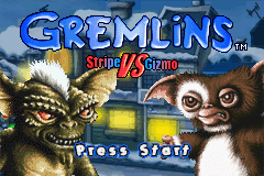 Gremlins - Stripe vs Gizmo (E)(Eurasia) Title Screen