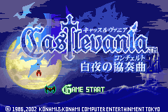 Castlevania - White Night Concerto (J)(Eurasia) Title Screen