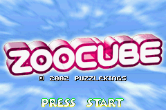 ZooCube (U)(Mode7) Title Screen