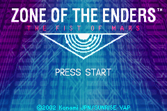 Zone of the Enders - The Fist of Mars (E)(Cezar) Title Screen
