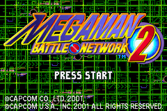 MegaMan Battle Network 2 (U)(Mode7) Title Screen