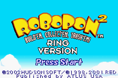 Robopon 2 - Ring Version (U)(Mode7) Title Screen