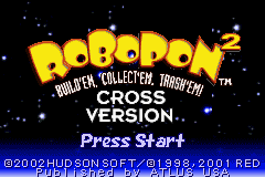 Robopon 2 - Cross Version (U)(Mode7) Title Screen