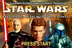 Star Wars Episode II - Attack Of The Clones (E)(Patience) Title Screen
