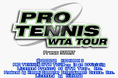 Pro Tennis WTA Tour (E)(Patience) Title Screen