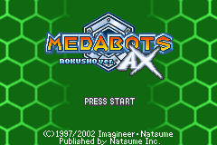 Medabots AX - Rokusho Version (U)(Venom) Title Screen