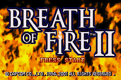 Breath of Fire 2 (E)(Patience) Title Screen