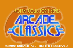 Konami Collectors Series - Arcade Classics (E)(Patience) Title Screen