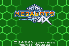 Medabots AX - Rokusho Version (E)(Patience) Title Screen