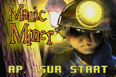 Manic Miner (E)(Eurasia) Title Screen