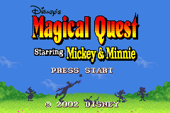 Disney's Magical Quest Starring Mickey and Minnie (U)(Eurasia) Title Screen