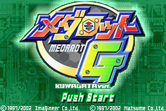 Medarot G - Kuwagata Version (J)(Independent) Title Screen