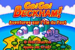 Go! Go! Beckham! Adventure On Soccer Island (E)(Eurasia) Title Screen
