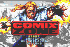 Comix Zone (E)(Independent) Title Screen