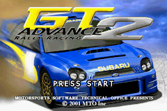 GT Advance 2 - Rally Racing (E)(Independent) Title Screen